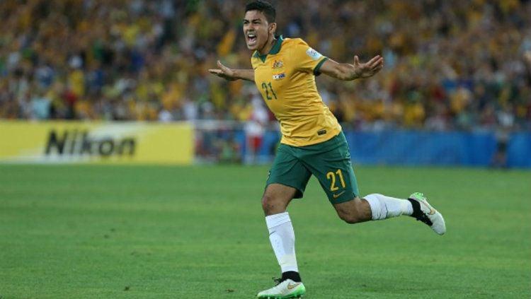 Pemain berdarah Indonesia yang bermain untuk Tim Nasional Australia Massimo Luongo. Copyright: © socceroos.com.au