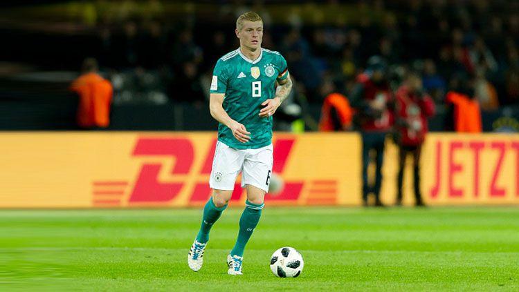 Toni Kroos menjadi jenderal lapangan tengah Timnas Jerman di Piala Dunia 2018. Copyright: © Getty Images