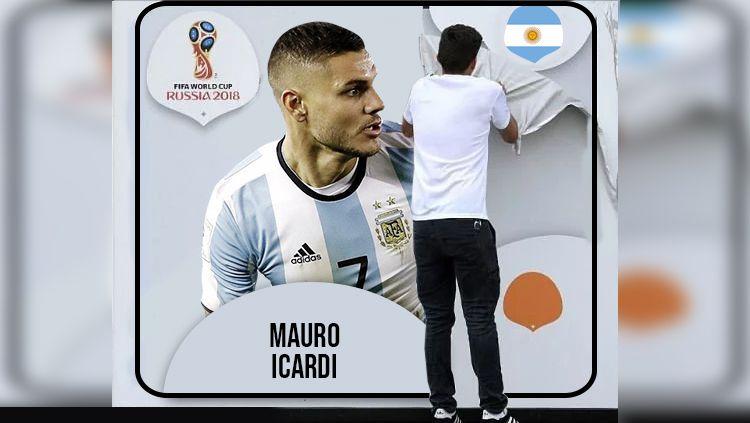 Mauro Icardi resmi tidak masuk dalam skuat di Piala Dunia 2018. Copyright: © INDOSPORT
