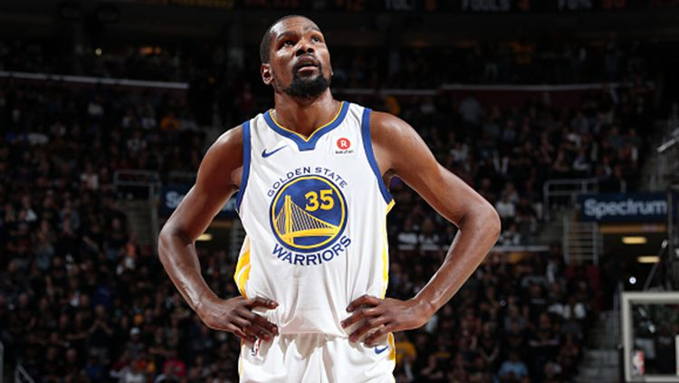 Kevin Durant bintang NBA game ketiga. Copyright: © Getty Images