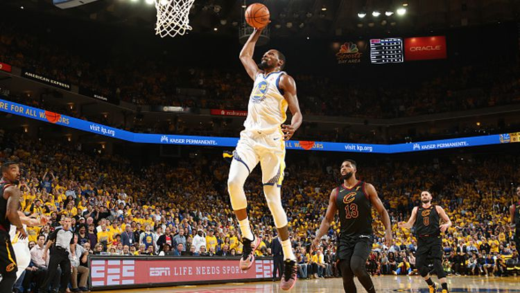 Kevin Durant, small forward Golden State Warriors. Copyright: © INDOSPORT
