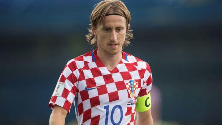 Playmaker sekaligus kapten Timnas Kroasia, Luka Modric. Copyright: © Croatia Week