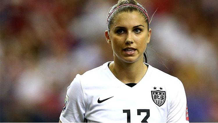 Alex Morgan, pesepakbola wanita asal Amerika Serikat. Copyright: © Getty Images