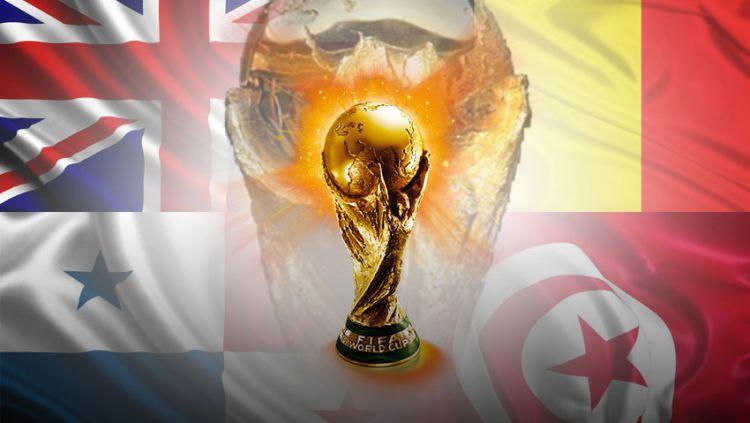 Piala Dunia Grup G Inggris, Belgia, Panama dan Tunisia. Copyright: © Indosport.com