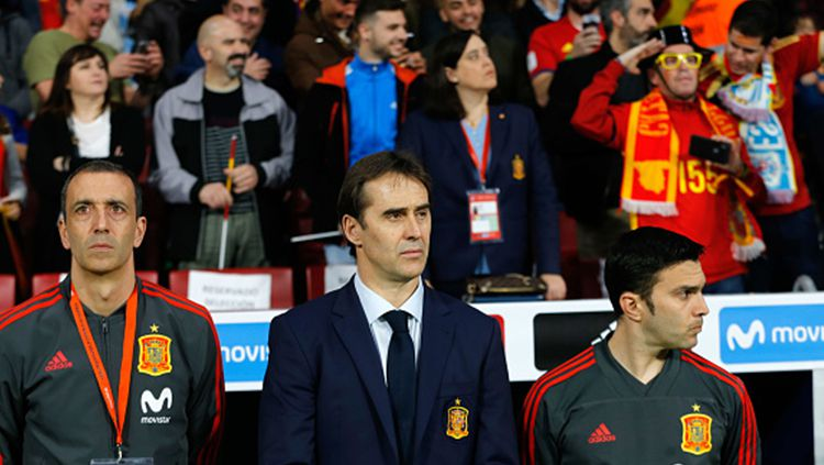 Julen Lopetegui, pelatih Timnas Spanyol. Copyright: © INDOSPORT