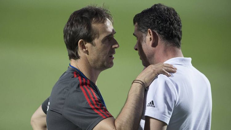 Julen Lopetegui dan Fernando Hierro. Copyright: © Getty Images