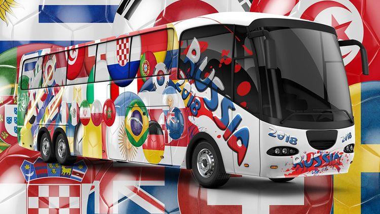 Bus bertema Piala Dunia 2018 Rusia. Copyright: © Pixabay