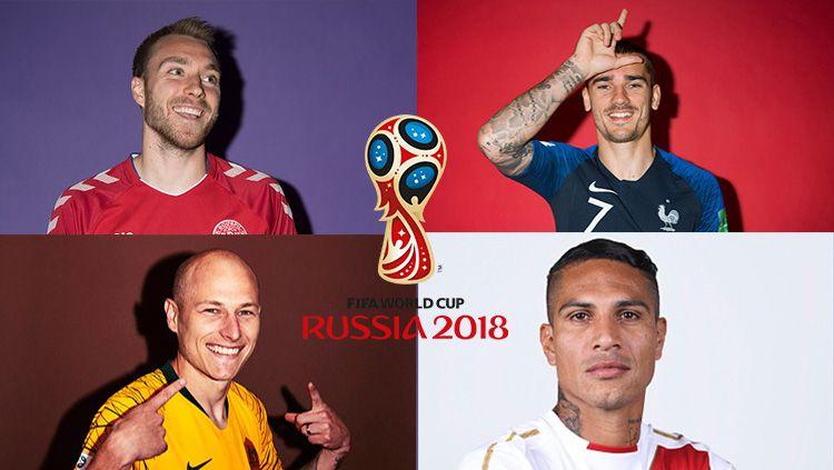 Grup C Piala Dunia 2018: Australia, Denmark, Peru, Prancis. Copyright: © Getty Images