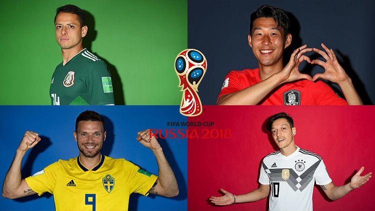 Grup F Piala Dunia 2018: Jerman, Meksiko, Korea Selatan, Swedia. Copyright: © INDOSPORT
