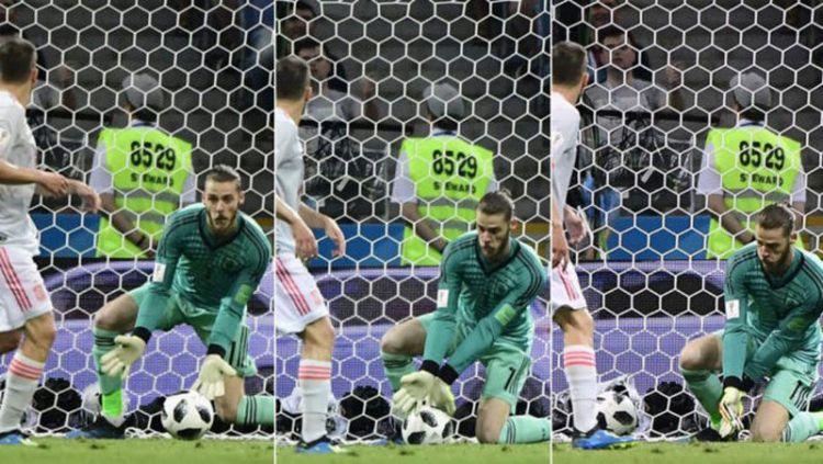 Blunder David De Gea ketika melawan Portugal di Piala Dunia 2018 Copyright: © Marca