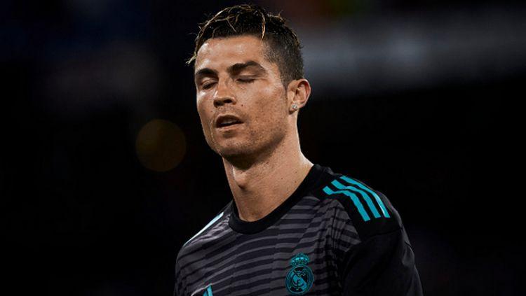 Crisitano Ronaldo mengaku menyesal meninggalkan Real Madrid pada jendela transfer musim panas ini. Copyright: © INDOSPORT