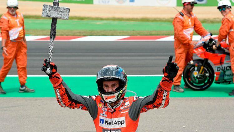 Jorge Lorenzo menang MotoGP Catalunya 2018. Copyright: © Getty Images