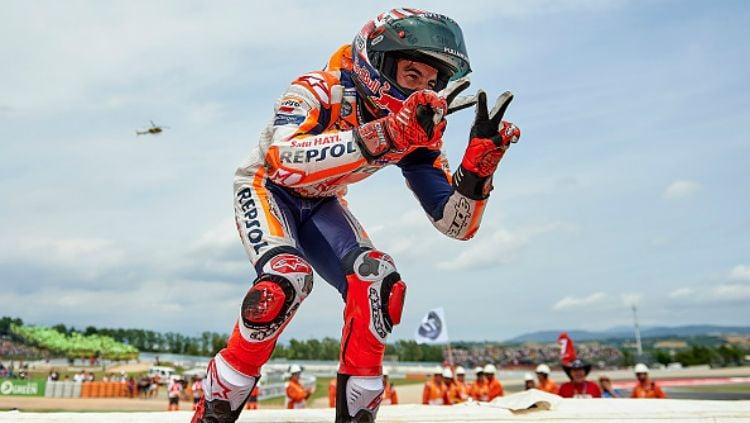 Marc Marquez finish runner up di MotoGP Catalunya 2018. Copyright: © Getty Images