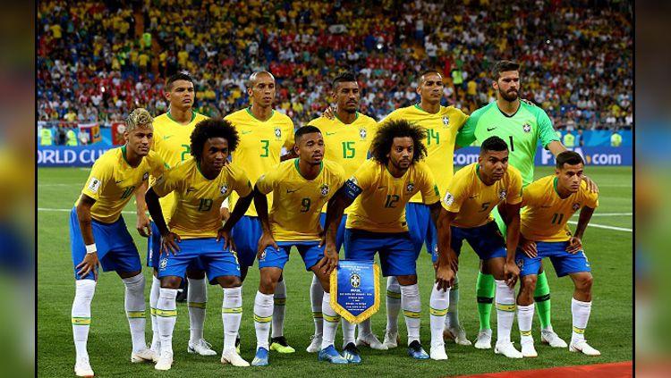 Timnas Brasil di Piala Dunia 2018. Copyright: © INDOSPORT