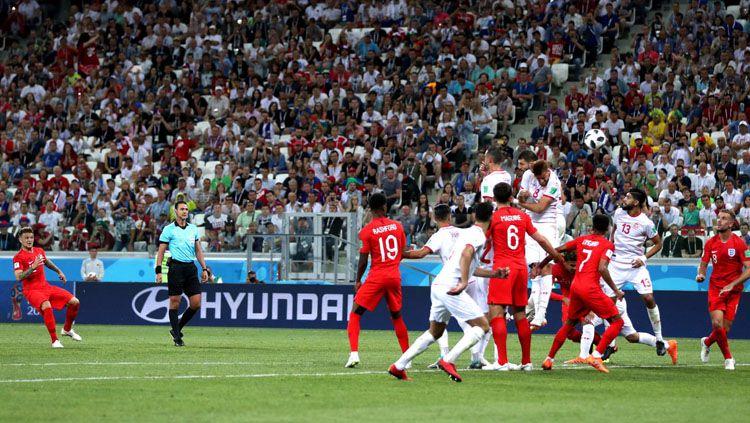 Situasi jalannya pertandingan Tunisia vs Inggris di Piala Dunia 2018. Copyright: © FIFA.com