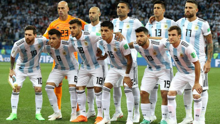 Skuat Tim Nasional Argentina di Piala Dunia 2018. Copyright: © Getty Images