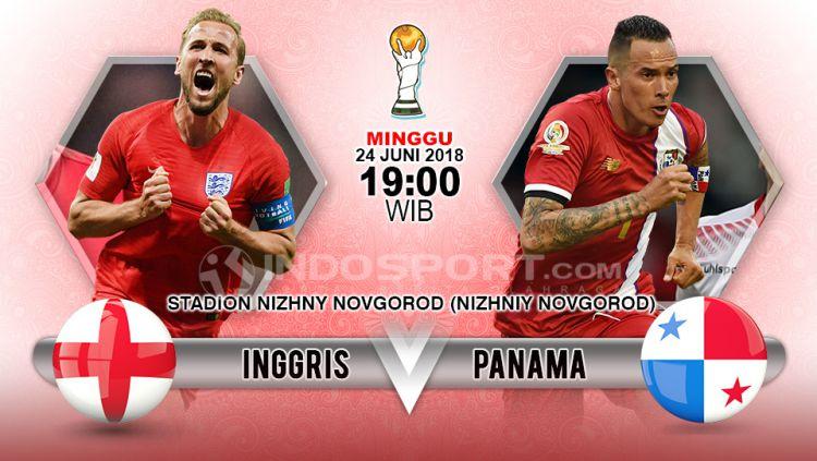 Inggris vs Panama Copyright: © Indosport.com
