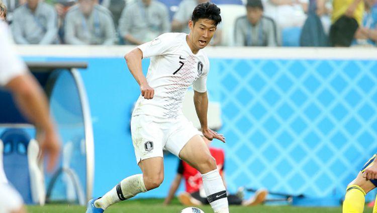 Son Heung-min, andalan Timnas Korea Selatan di Piala Dunia 2018. Copyright: © INDOSPORT