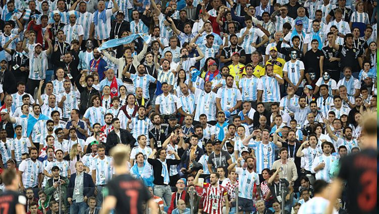 Fans Argentina di Piala Dunia 2018. Copyright: © Getty Images