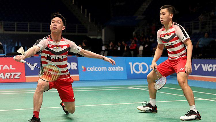 Kevin dan Marcus di Malaysia Open 2018 Copyright: © Humas PBSI