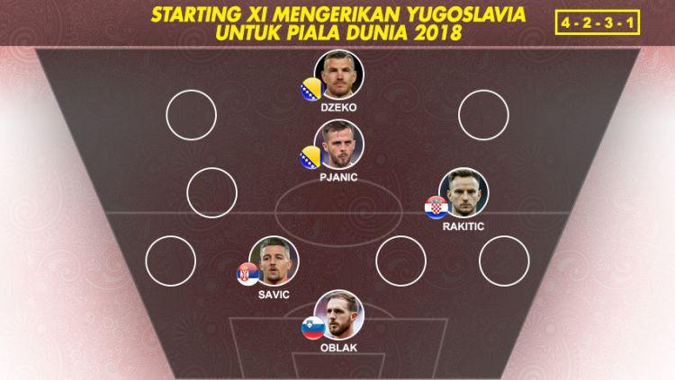 Best Starting XI Yugoslavia di Piala Dunia 2018 Copyright: © Indosport.com