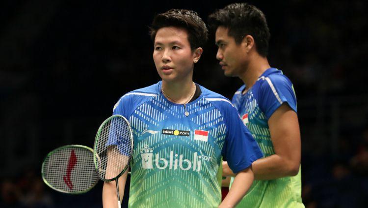 Tontowi Ahmad/Liliyana Natsir di perempatfinal Malaysia Open 2018. Copyright: © Humas PBSI