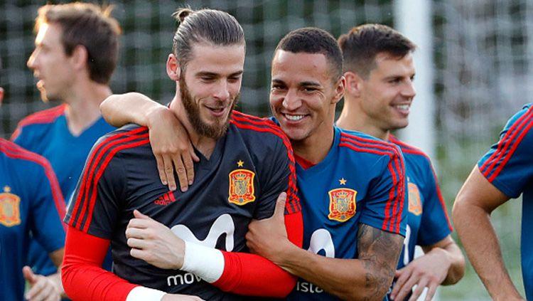 Rodrigo Moreno (kanan) menjadi incaran anyar dari rival sekota klub masa mudanya, Real Madrid, yakni Atletico Copyright: © Getty Images