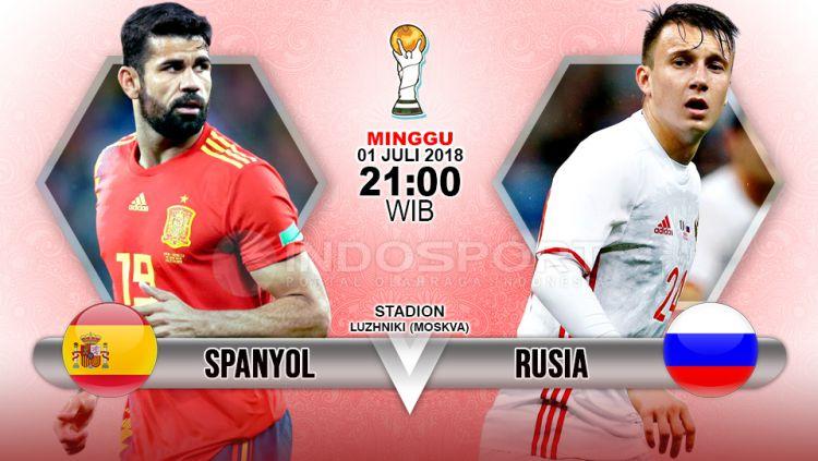 Prediksi Spanyol vs Rusia Copyright: © Indosport.com