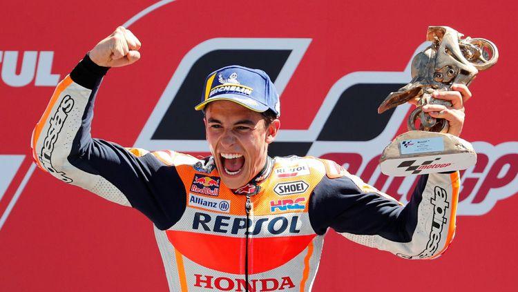 Marc Marquez punya harapan tinggi terhadap sang adik, Alex Marquez. Copyright: © Twitter @vozdeportes