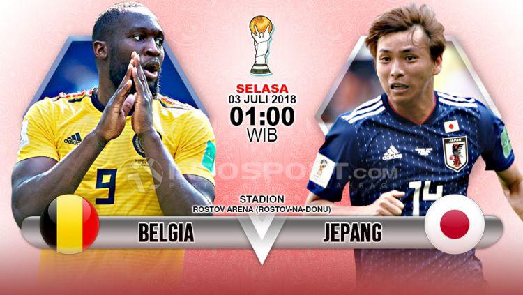 Belgia vs Jepang.