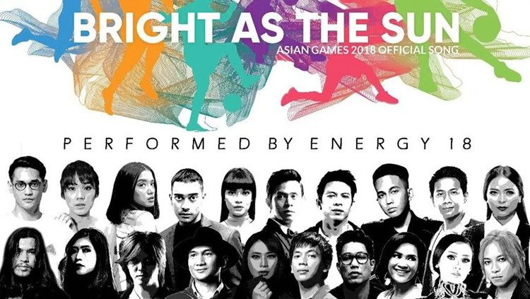 Kolaborasi artis indonesia membawakan lagu resmi Asian Games 2018 dengan judul Bright as The Sun. Copyright: © INDOSPORT