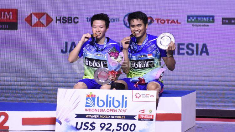 Ganda Campuran Indonesia Tontowi Ahmad dan Liliyana Natsir juara Indonesia Open 2018. Copyright: © Herry Ibrahim/INDOSPORT