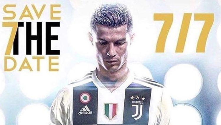 Cristiano Ronaldo akhirnya resmi bergabung ke Juventus. Copyright: © Istimewa