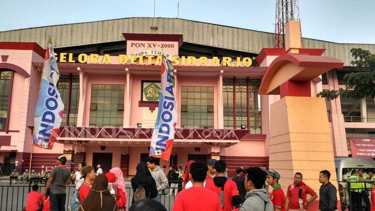 Stadion Gelora Delta Sidoarjo. Copyright: © Petrus Manus Da' Yerimon/INDOSPORT