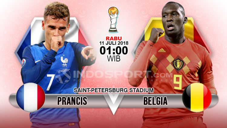Prancis vs Belgia. Copyright: © INDOSPORT