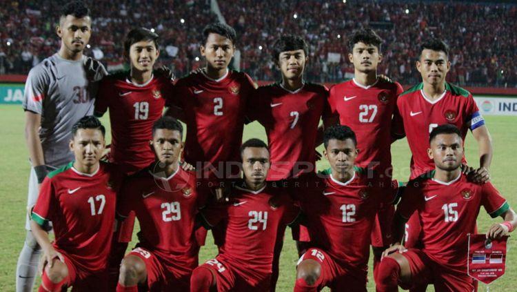 Skuat Timnas Indonesia U-19. Copyright: © Fitra Herdian/INDOSPORT