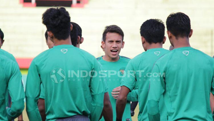 Egy Maulana bergabung dalam latihan Timnas U19. Copyright: © INDOSPORT/Fitra Herdian
