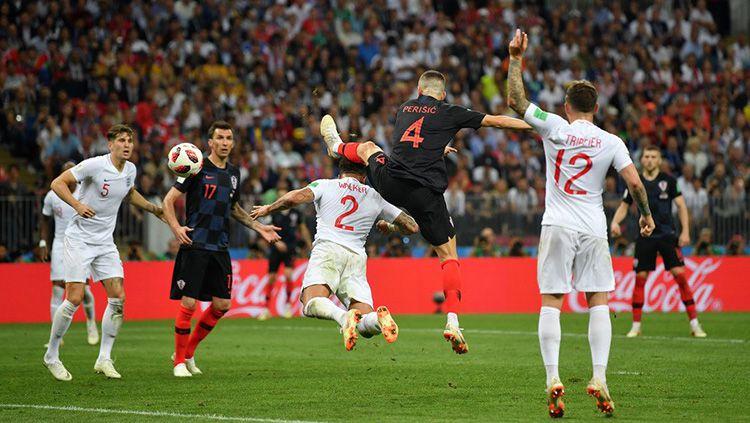 Ivan Perisic buat gol saat Kroasia vs Inggris di Piala Dunia 2018. Copyright: © INDOSPORT.com