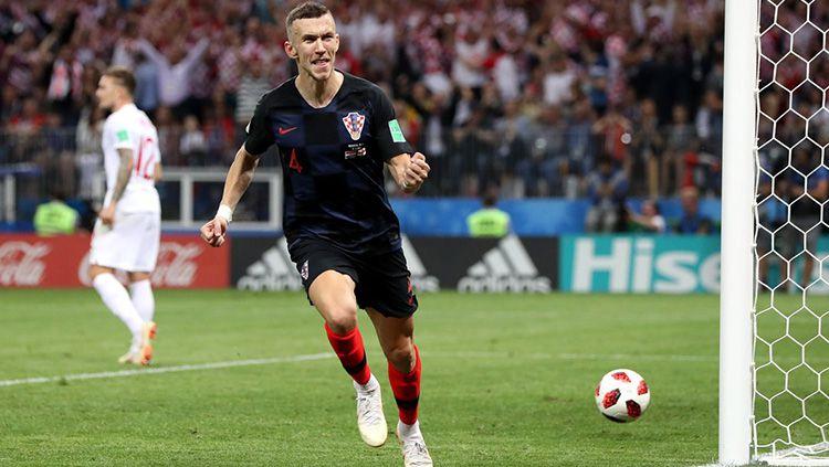 Ivan Perisic sukses mencetak gol untuk Kroasia saat bersua Inggris di semifinal Piala Dunia 2018. Copyright: © INDOSPORT.com