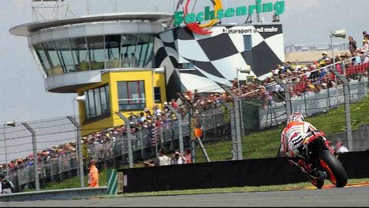Sirkui Sachsenring yang menjadi lokasi balapan MotoGP Jerman 2018. Copyright: © radaraktual.com