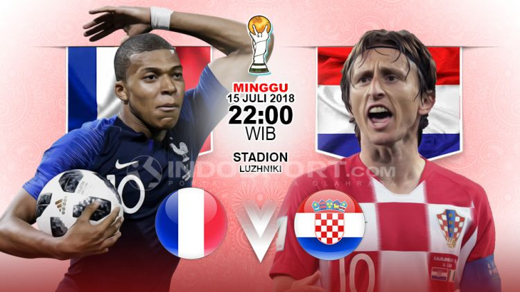 Prancis Vs Kroasia Copyright Indosport