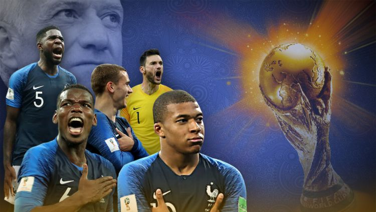 Prancis, juara Piala Dunia 2018. Copyright: © Grafis:Yanto/Indosport.com