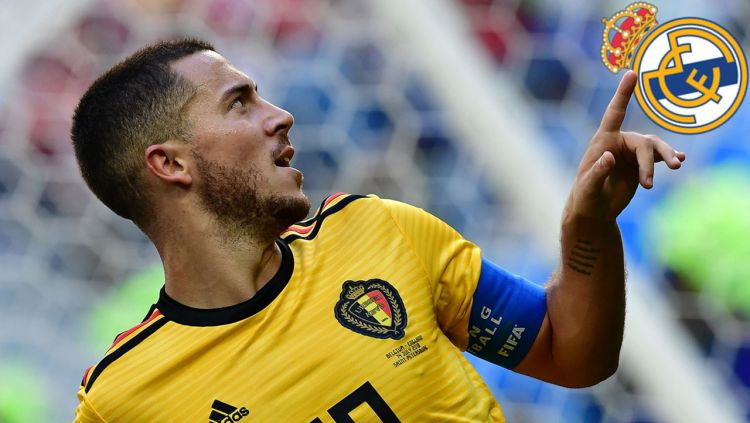 Eden Hazard dirumorkan akan bergabung ke Real Madrid. Copyright: © Getty Images