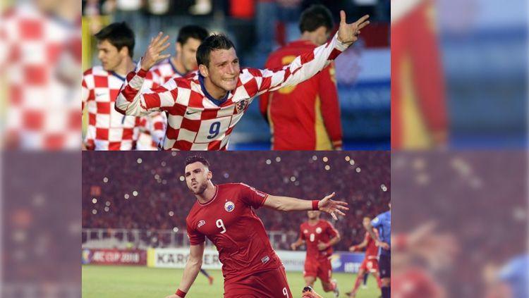 Marko Simic saat mengenakan seragam Tim Nasional Kroasia dan Persija Jakarta. Copyright: © Instagram/@markosimic_77