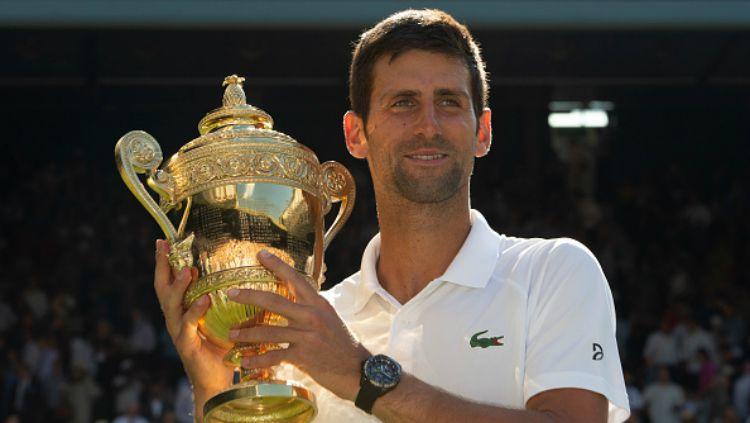 Novak Djokovic memenangkan Wimbledon 2018 usai kalahkan Kevin Anderson. Copyright: © Getty Images
