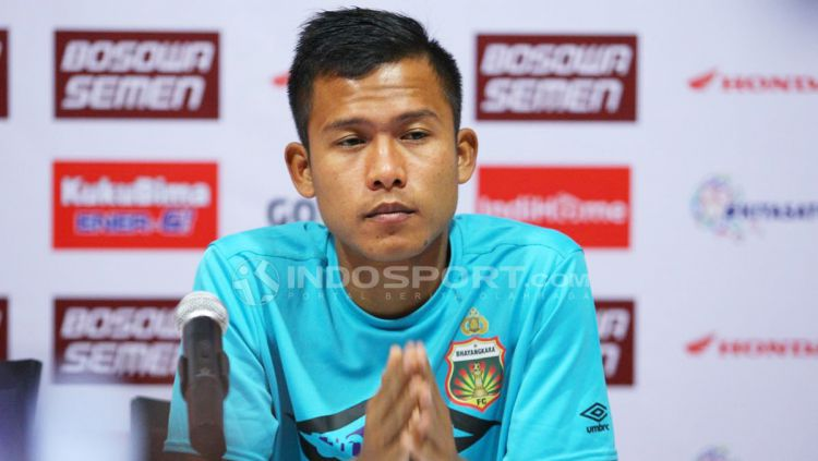 Gelandang Bhayangkara FC, Wahyu Subo Seto. Copyright: © Wira Wahyu Utama/Indosport.com