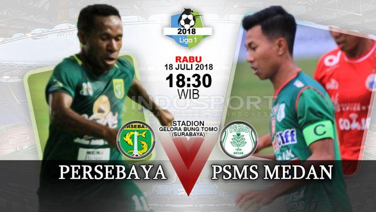 Persebaya Surabaya vs PSMS Medan. Copyright: © INDOSPORT