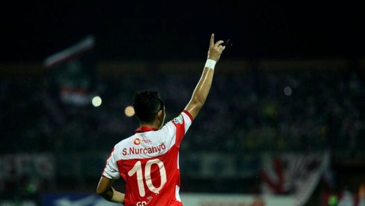 Pemain senior Madura United, Slamet Nurcahyo. Copyright: © liga-indonesia.id
