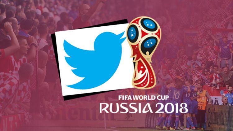 Logo Piala Dunia 2018 dan Twitter. Copyright: © INDOSPORT
