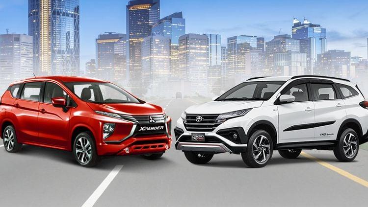 All New Toyota Rush 2018 vs Mitsubishi Xpander. Copyright: © INDOSPORT
